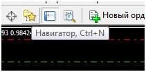 Кнопка навигатора в Metatrader4